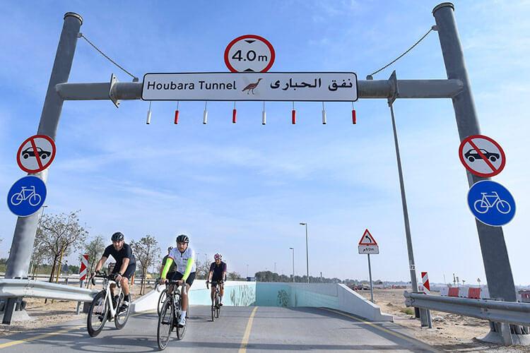 Houbara Tunnel — The new cycling underpass at Dubai's Al Qudra