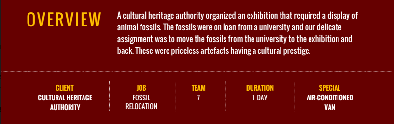Fossil Relocation