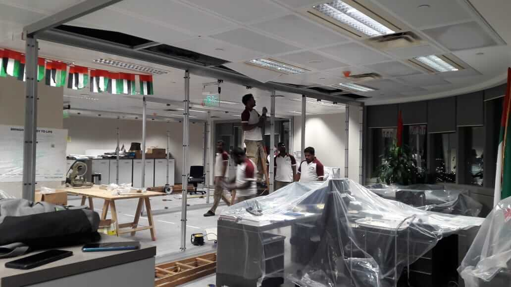 Installing Glass Partitions for Corporate Office